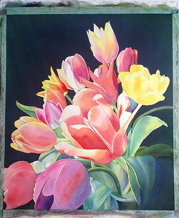 7- flowers underpainting
