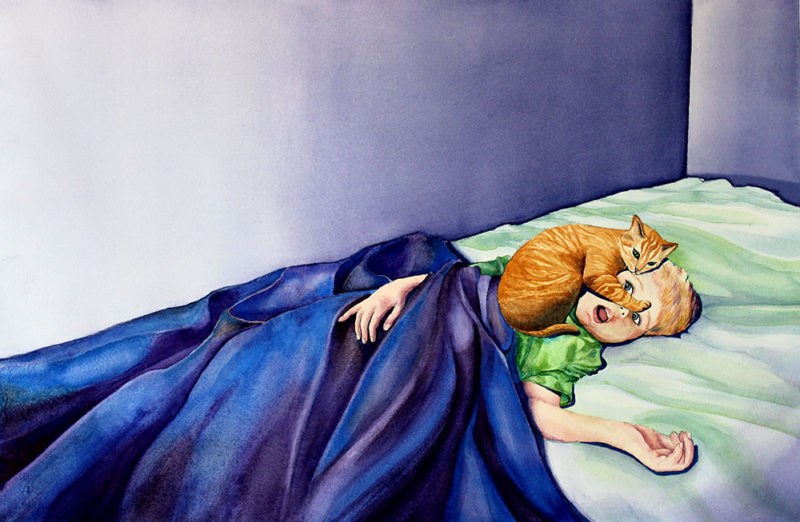 Amanda Murillo - Cat children's book, spread.