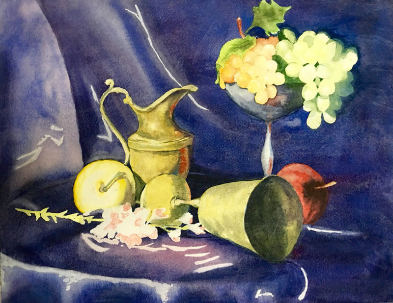 Chayanika Chattppadhyay - Still Life with Grapes